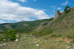 Montagne sul lago Baikal Fotografia Stock