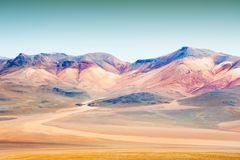 Montagne sul plateau Altiplano, Bolivia Immagini Stock Libere da Diritti