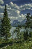 Montagne supérieure carrée et lac inférieur green River images libres de droits