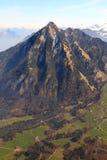 Montagne svizzere FO dritte delle alpi della Svizzera della montagna di Stanserhorn Fotografie Stock Libere da Diritti