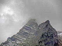 Montagne tempestose Fotografie Stock