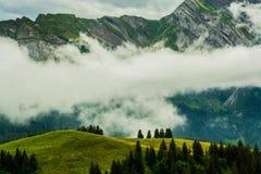 Montagne tempestose Immagini Stock Libere da Diritti