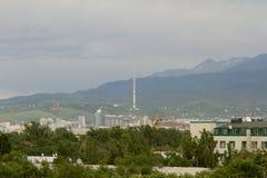 Montagne in tempo nuvoloso Immagine Stock Libera da Diritti