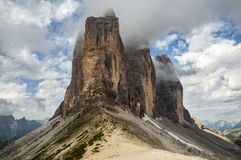 Montagne, Tre Cime Fotografie Stock Libere da Diritti