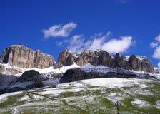 Montagne in Val Gardena Fotografia Stock Libera da Diritti