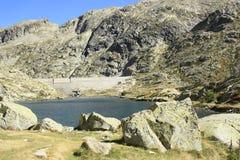 Montagne in valle di Tena, Pirenei Panticosa Fotografie Stock