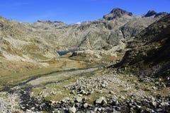 Montagne in valle di Tena, Pirenei Panticosa Immagine Stock