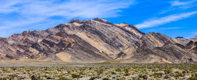 Montagne variopinte in Death Valley Fotografia Stock