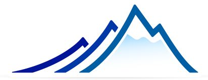 Montagne (vecteur) Image stock