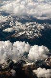 Montagne vedute da un aeroplano Immagine Stock Libera da Diritti