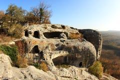 Montagne. Ville Eski-Kermen de caverne Photo stock