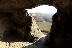 Montagne. Ville Eski-Kermen de caverne Photographie stock