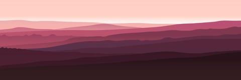 Montagne viola Fotografie Stock