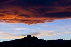 Montagne Wyoming de coeur dans le coucher du soleil Image libre de droits