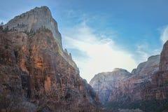 Montagne a Zion National Park fotografia stock libera da diritti