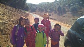 montagnes的孩子 库存图片