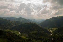 Montagnes à Manizales - en Colombie Photo libre de droits