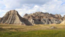 Montagnes érodées des bad-lands du Dakota du Sud Images libres de droits