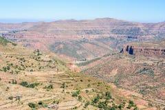 Montagnes éthiopiennes du nord Images stock