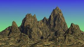 Montagnes étranges Images libres de droits