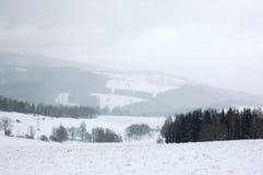 Montagnes 2 de l'hiver Image libre de droits