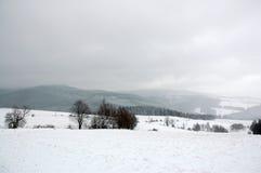 Montagnes 3 de l'hiver Images stock