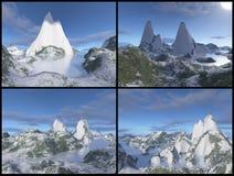 montagnes 3D Photo libre de droits