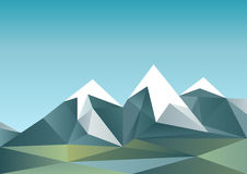Montagnes abstraites dans le style polygonal Photo stock