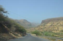 Montagnes au Cap Vert Photo libre de droits