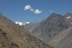 Montagnes au Chili Photo stock