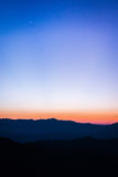 Montagnes au coucher du soleil Photos libres de droits