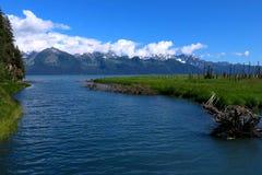 Montagnes au-dessus de l'admission Pacifique Image libre de droits