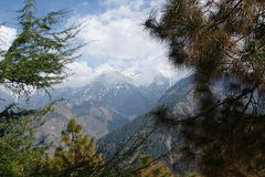 Montagnes autour de Dharamsala Photos stock