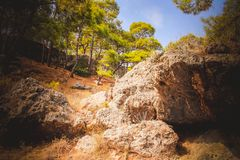 Montagnes avec des pierres photo libre de droits