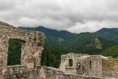 Montagnes avec des ruines Photos libres de droits