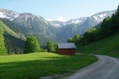 Montagnes avec la neige Photo stock