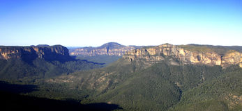 Montagnes bleues Photographie stock libre de droits