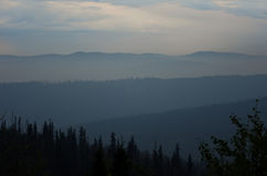 Montagnes bleues Images stock