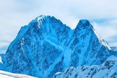 Montagnes bleues de Milou en nuages Photo libre de droits