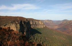 Montagnes bleues. Le feu de brousse. Blackheath. l'Australie. Image stock