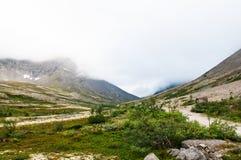 Montagnes brouillard et brume Photo libre de droits