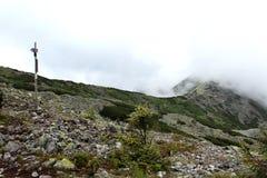 Montagnes brumeuses Photo libre de droits
