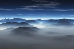 Montagnes brumeuses photos stock