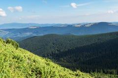 Montagnes carpathiennes de paysage photo libre de droits