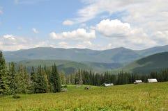 Montagnes carpathiennes en été Chaîne de Svydovets Photos stock