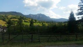 Montagnes carpathiennes roumaines image libre de droits