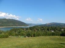Montagnes carpathiennes roumaines photographie stock
