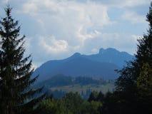 Montagnes carpathiennes roumaines images stock