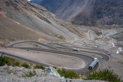 Montagnes Chili de Portillo Photo libre de droits