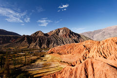 Montagnes colorées Image libre de droits